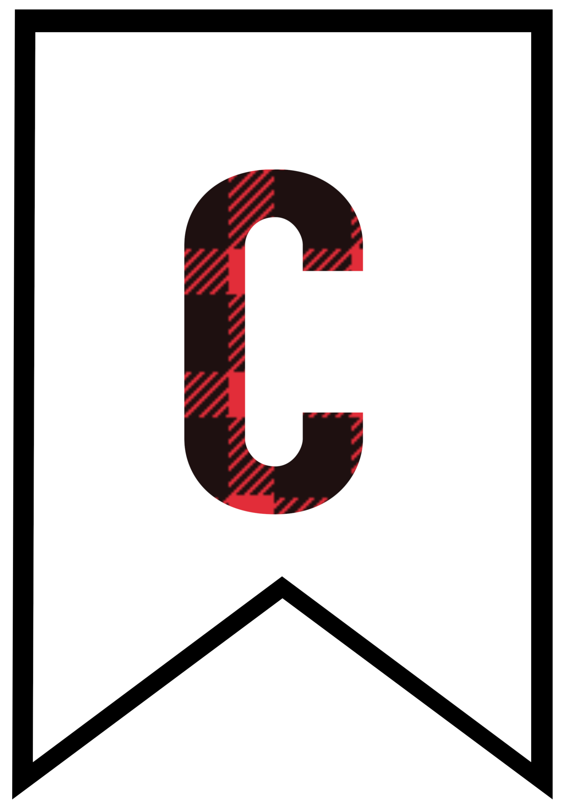 Buffalo Plaid Free Printable Banner Letters - Paper Trail ...