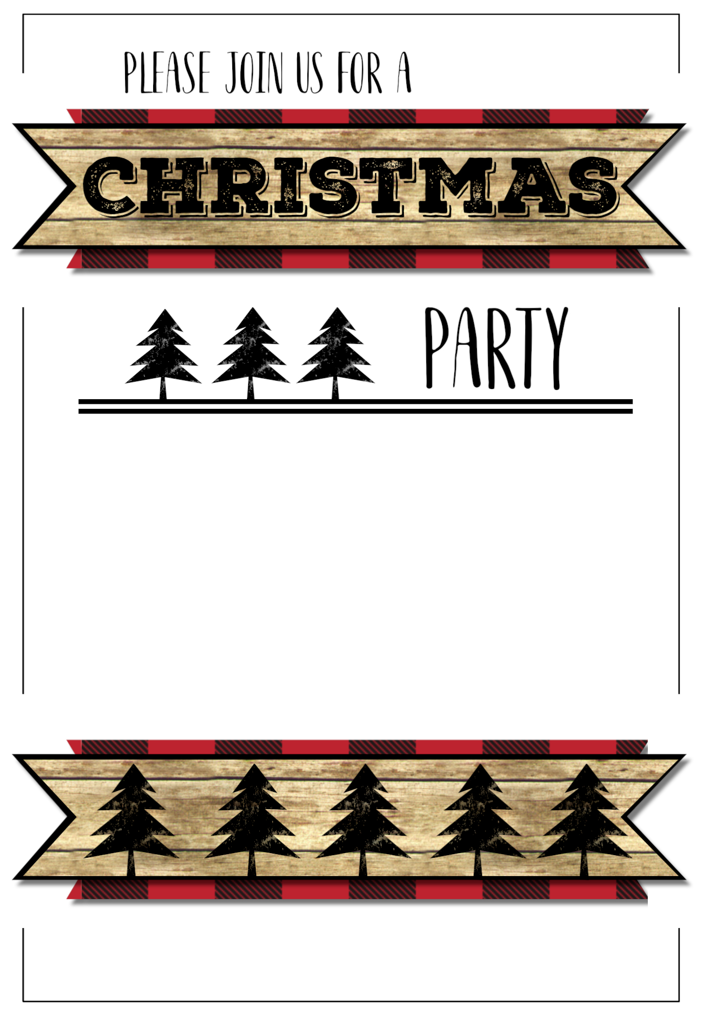 christmas party invitation templates free printable