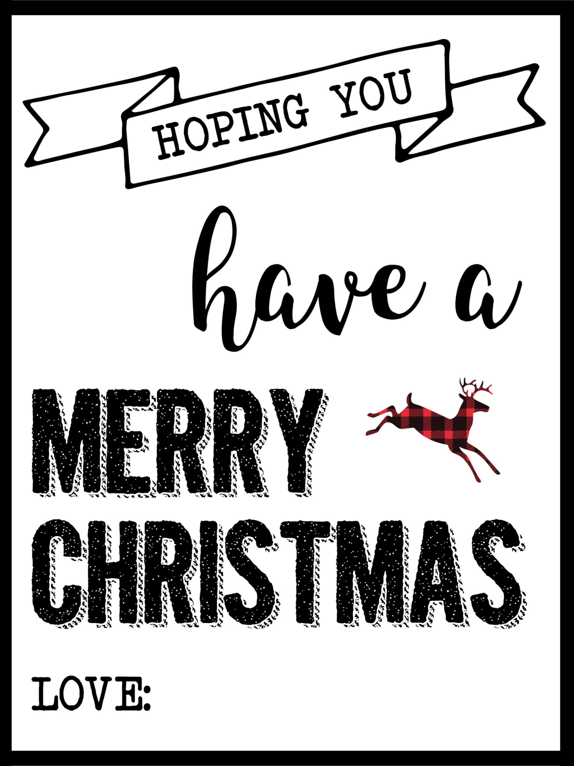 Christmas Labels Printable {Free Christmas Gift Tags ...
