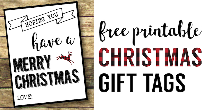 Christmas Labels Printable Free Gift Tags Paper Trail Design