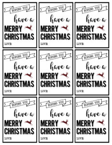 photo regarding Printable Christmas Tags Black and White referred to as Xmas Labels In the direction of Print Arts - Arts
