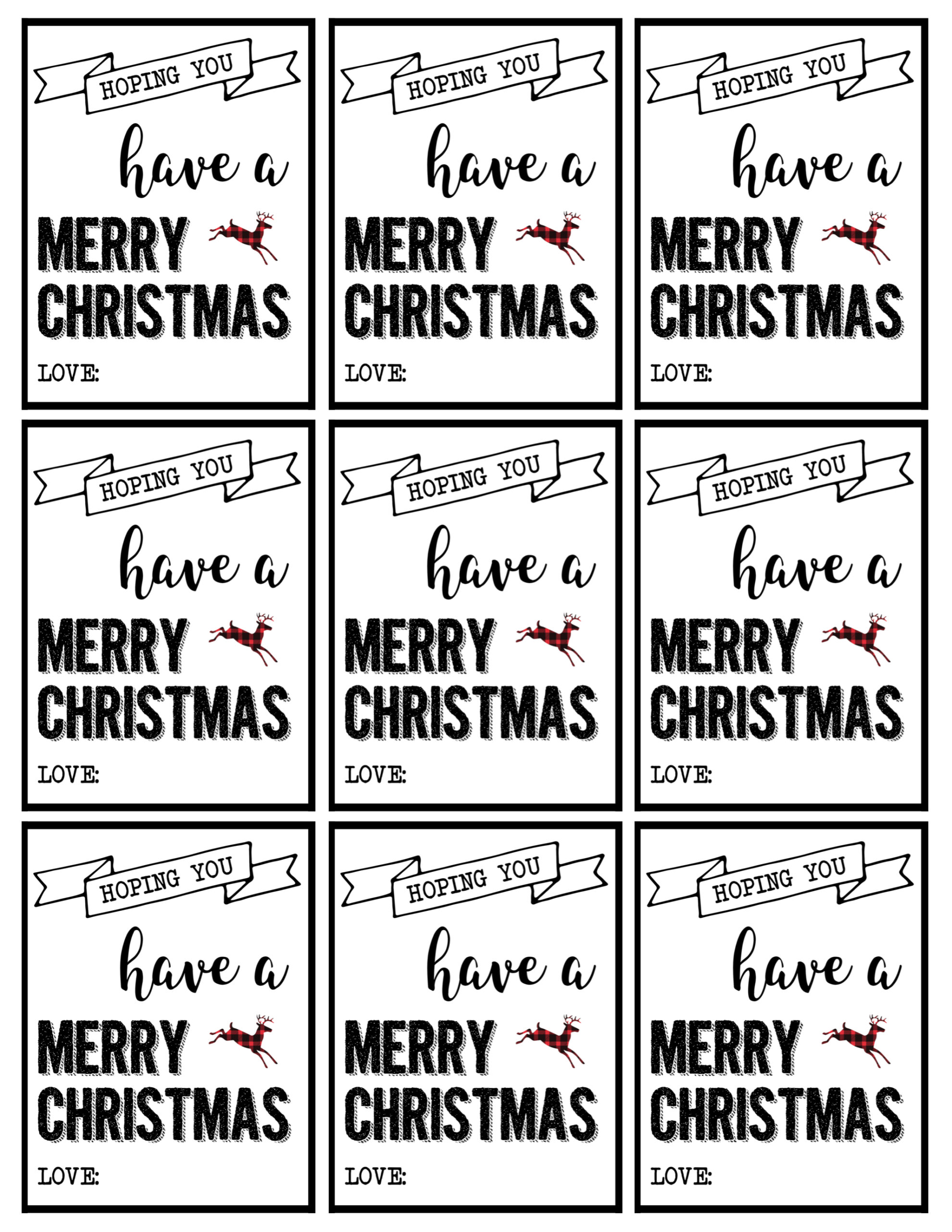 It's just a graphic of Adorable Merry Christmas Tags Printable