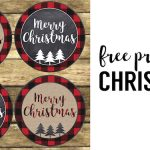 Merry Christmas Tags Printable. Free Christmas tags print for teacher gifts, gift wrap, neighbor gifts, or use to make a quick Christmas ornament.