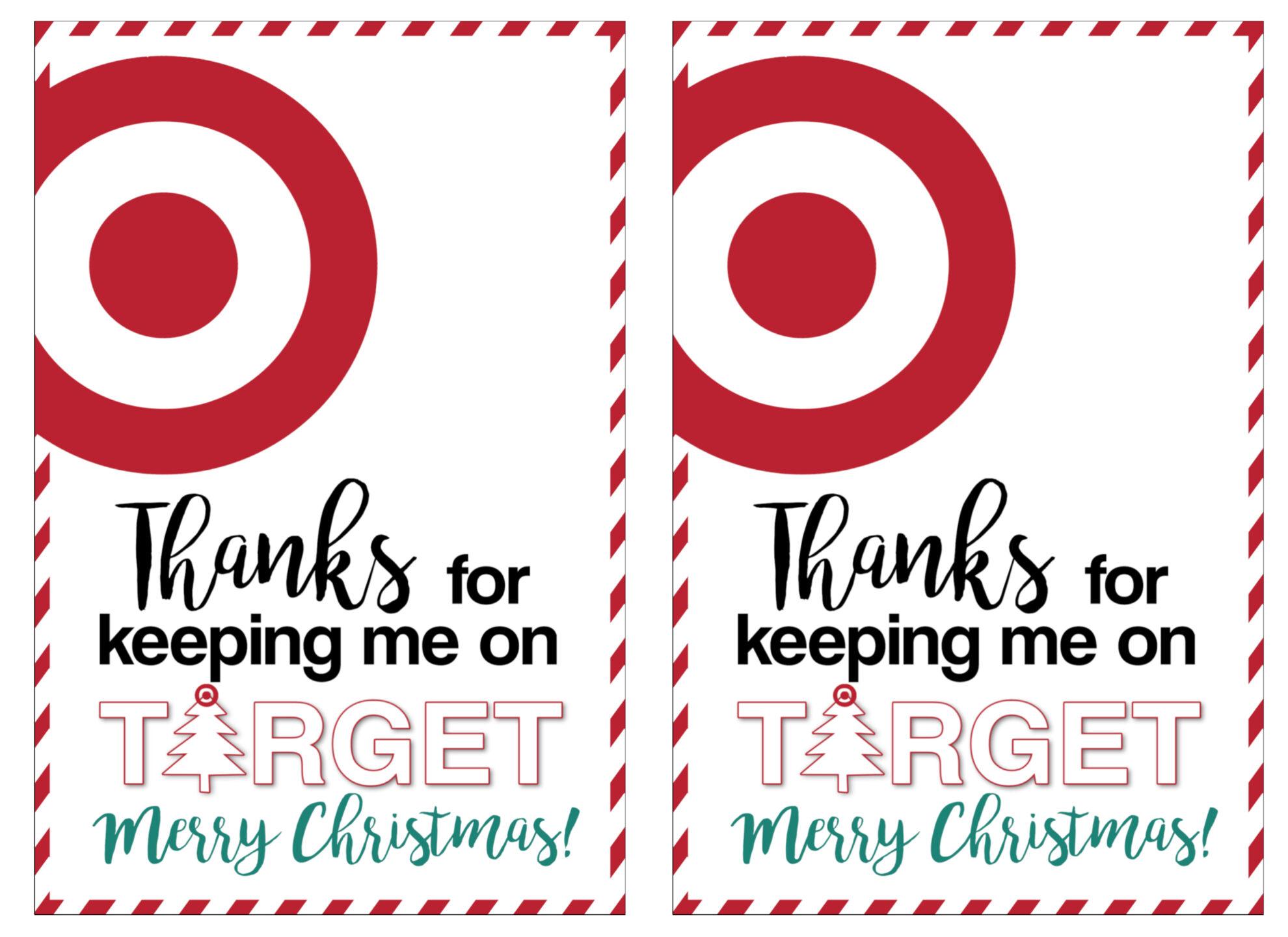 Target Christmas Gift Card Holders Teachers Friends Neighbors Paper Trail Design