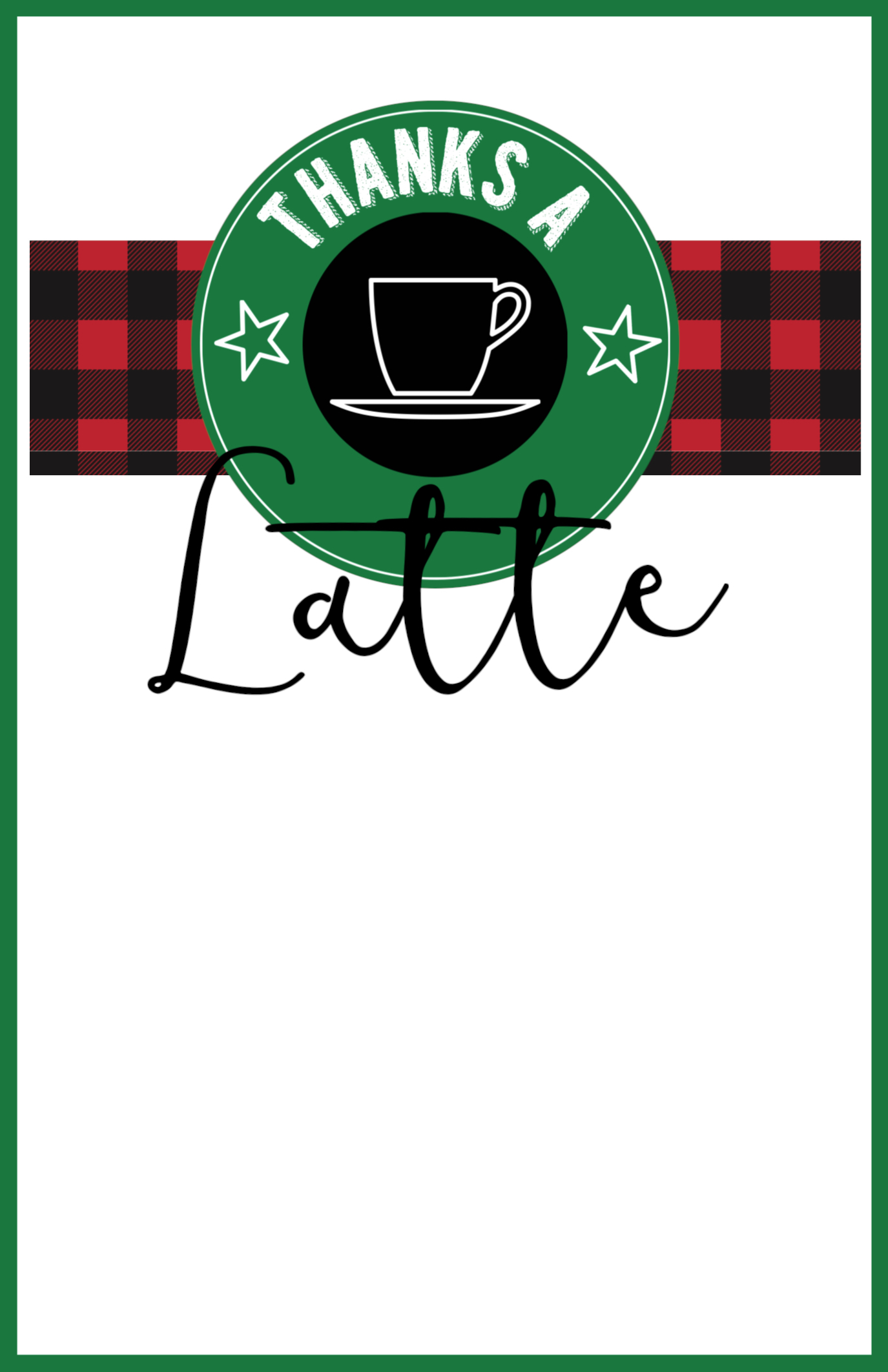 picture relating to Thanks a Latte Christmas Printable known as Very simple Trainer Xmas Reward Strategy Starbucks Reward Card