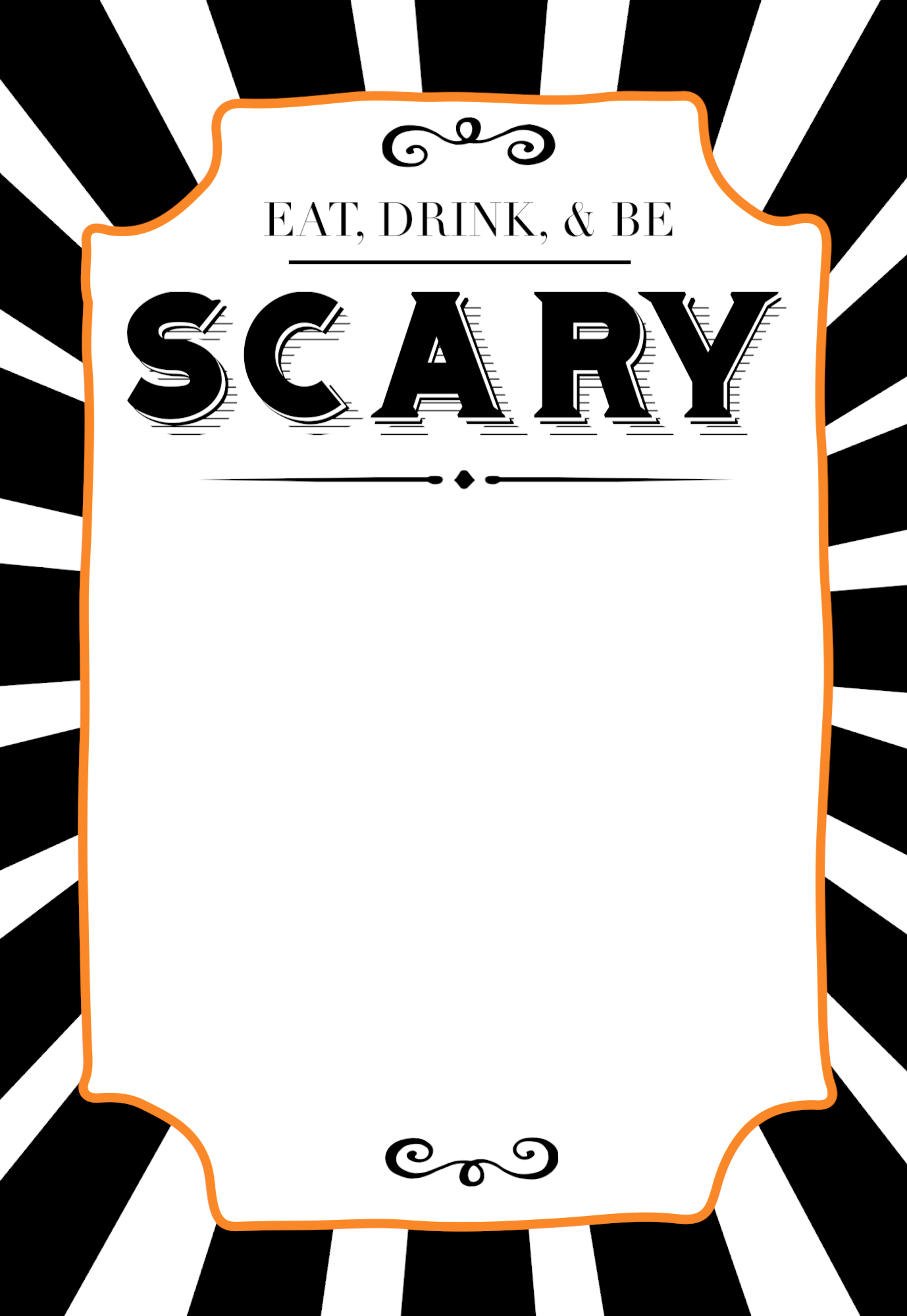 This is an image of Decisive Free Halloween Invitation Templates Printable