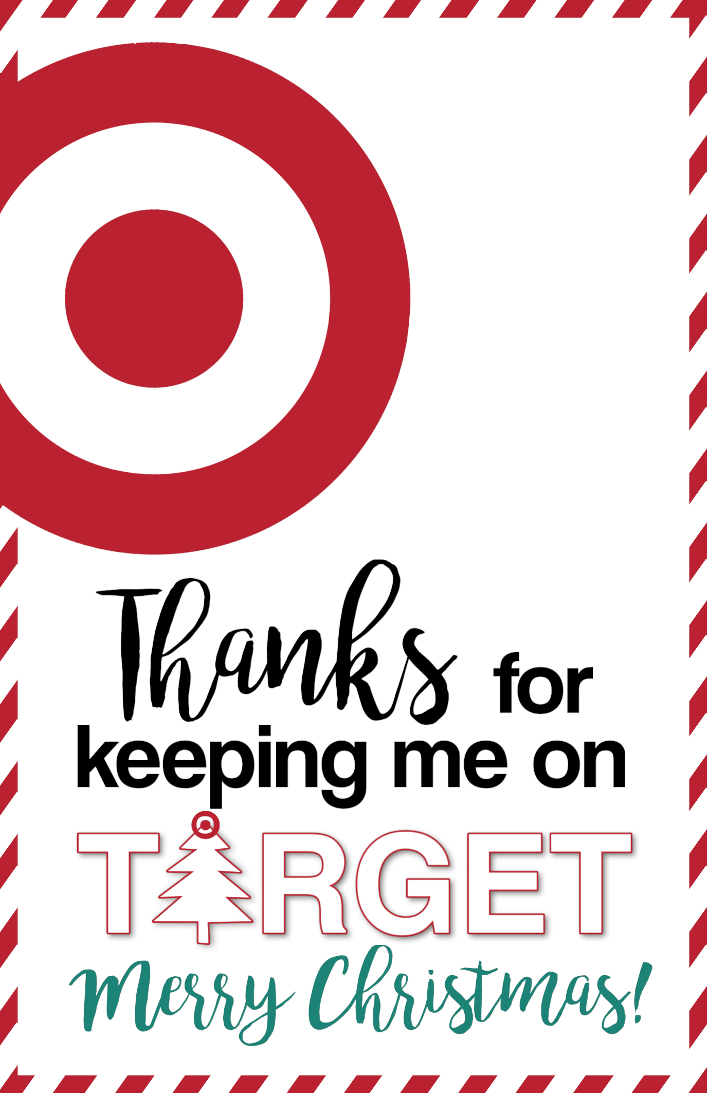photograph regarding Printable Target Gift Card named Emphasis Xmas Present Card Holders Lecturers, Close friends
