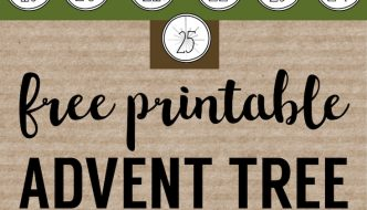 Advent Calendar Printable Numbers Christmas DIY advent calendar template. Free printable Christmas advent calendar tree. Easy and inexpensive advent.