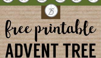 Advent Calendar Printable Numbers Christmas DIY advent calendar template. Free printable Christmas advent calendar tree. Easy and inexpensive advent.