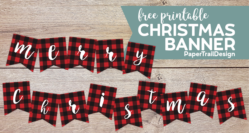 The Best Lettering Merry Christmas And Happy New Year Banner Printable
