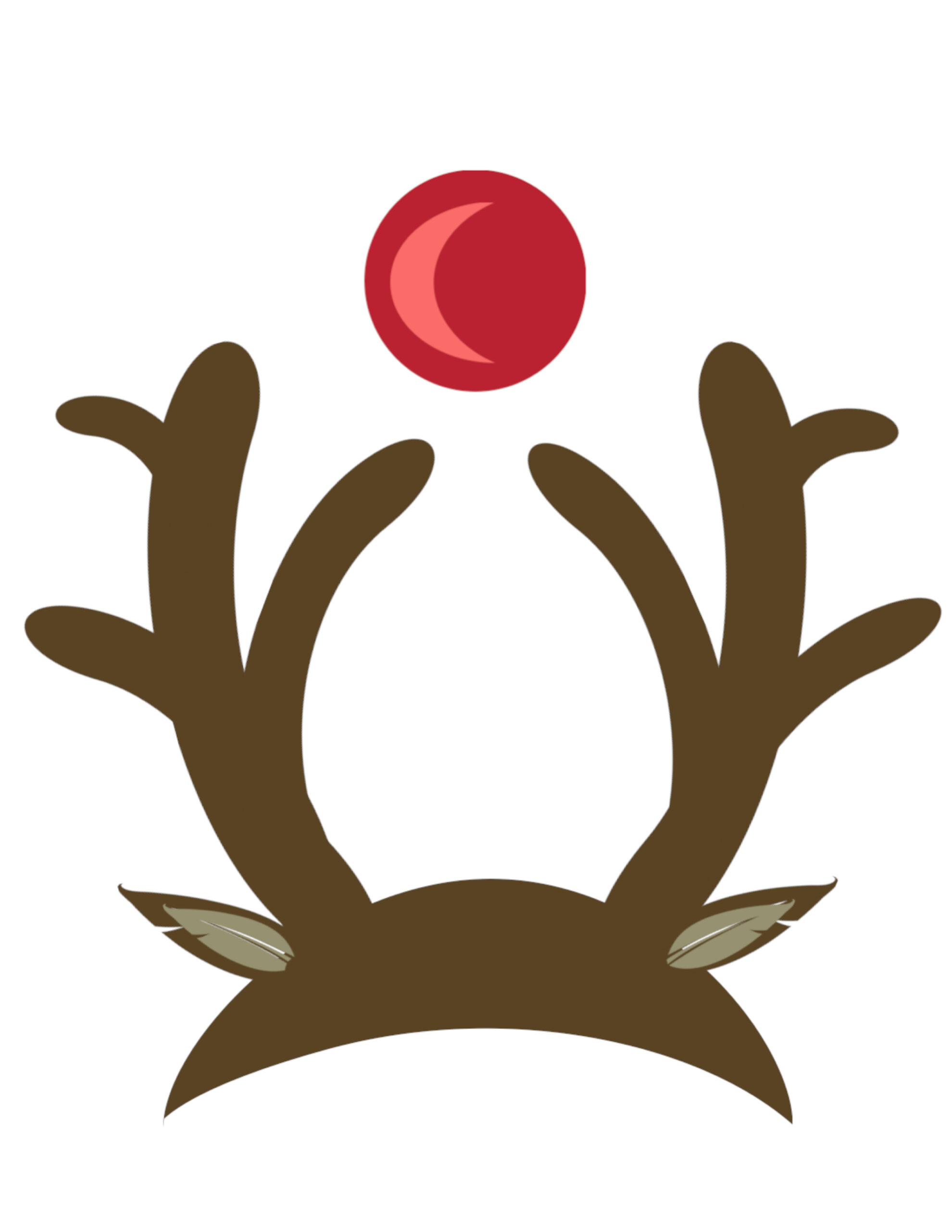 photo relating to Pin the Nose on Rudolph Printable called Cost-free Xmas Image Booth Props Printable - Paper Path Style