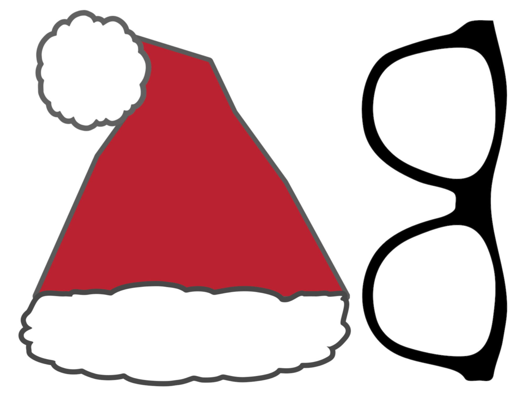 99 ideas santa hat printable on christmas2017wnload christmas photo booth printables free printable photo booth props pronofoot35fo Image collections