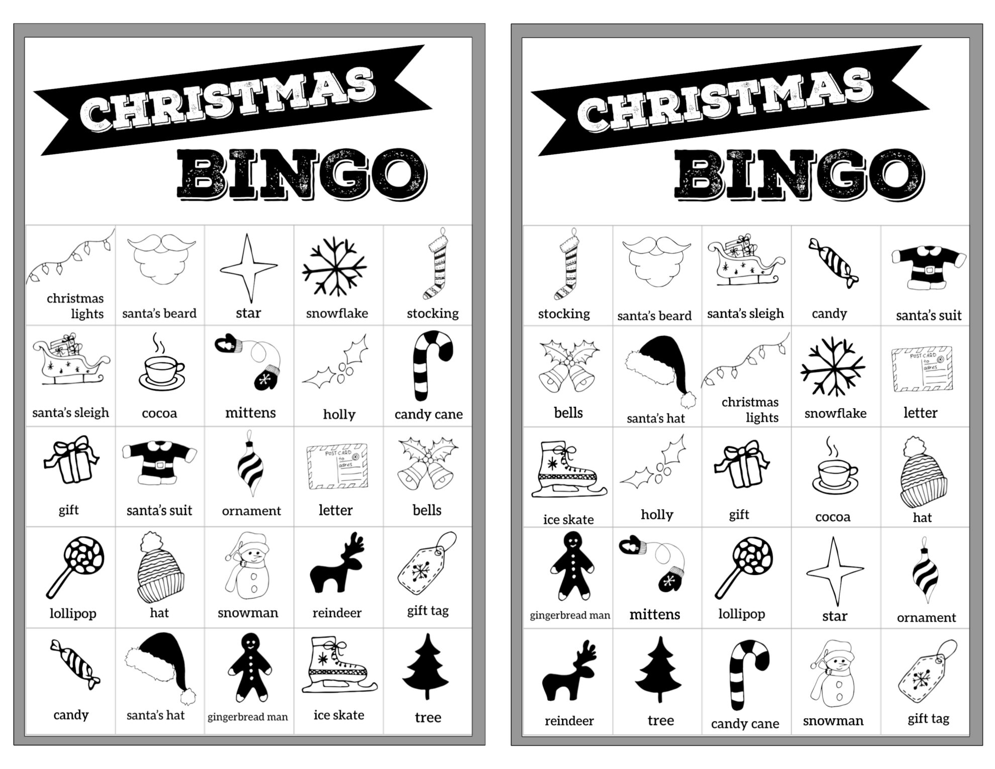 graphic regarding Christmas Bingo Card Printable known as Cost-free Xmas Bingo Printable Playing cards - Paper Path Layout