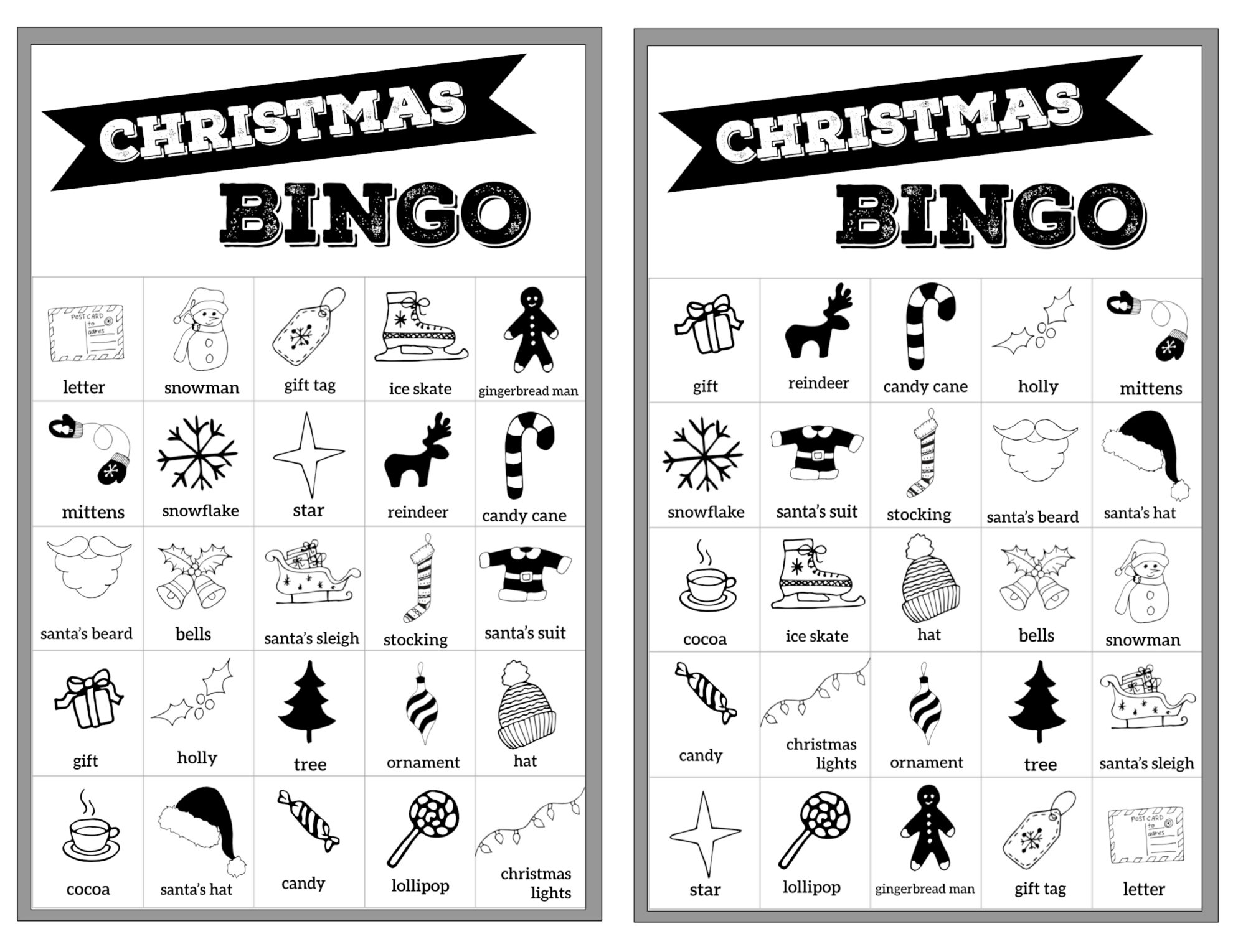 graphic relating to Christmas Bingo Free Printable referred to as Totally free Xmas Bingo Printable Playing cards - Paper Path Layout