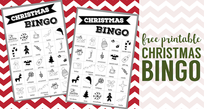 Free Christmas Bingo Printable Cards. Christmas bingo holiday game for a Christmas party or classroom party activity. Christmas bingo boards. #papertraildesign #christmasbingo #christmasgames #kidschristmasparty