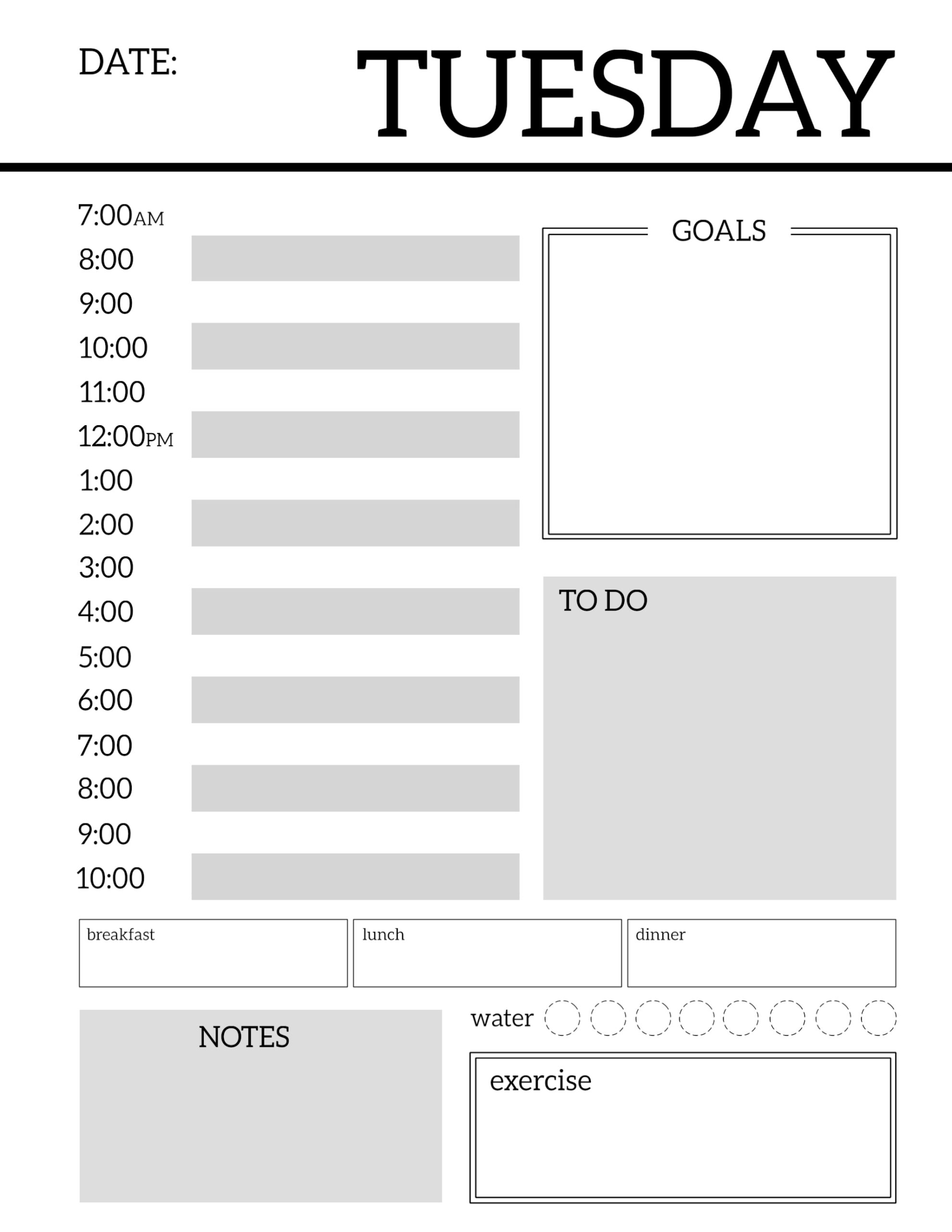 graphic about Daily Planner Printable named Every day Planner Printable Template Sheets - Paper Path Style