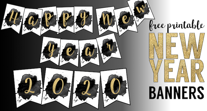 free printable happy new year banner letters paper trail design free printable happy new year banner