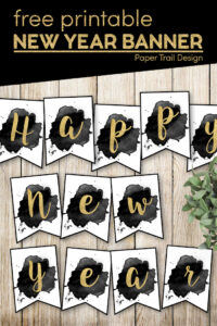 Happy new year banner letters with text overlay- free printable happy new year banner