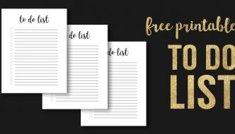 Free Printable To Do List Template. Weekly, Daily, or Monthly to-do checklist. DIY printable for your organization notebook. #papertraildesign #organizationideas #todolist #printableplanner