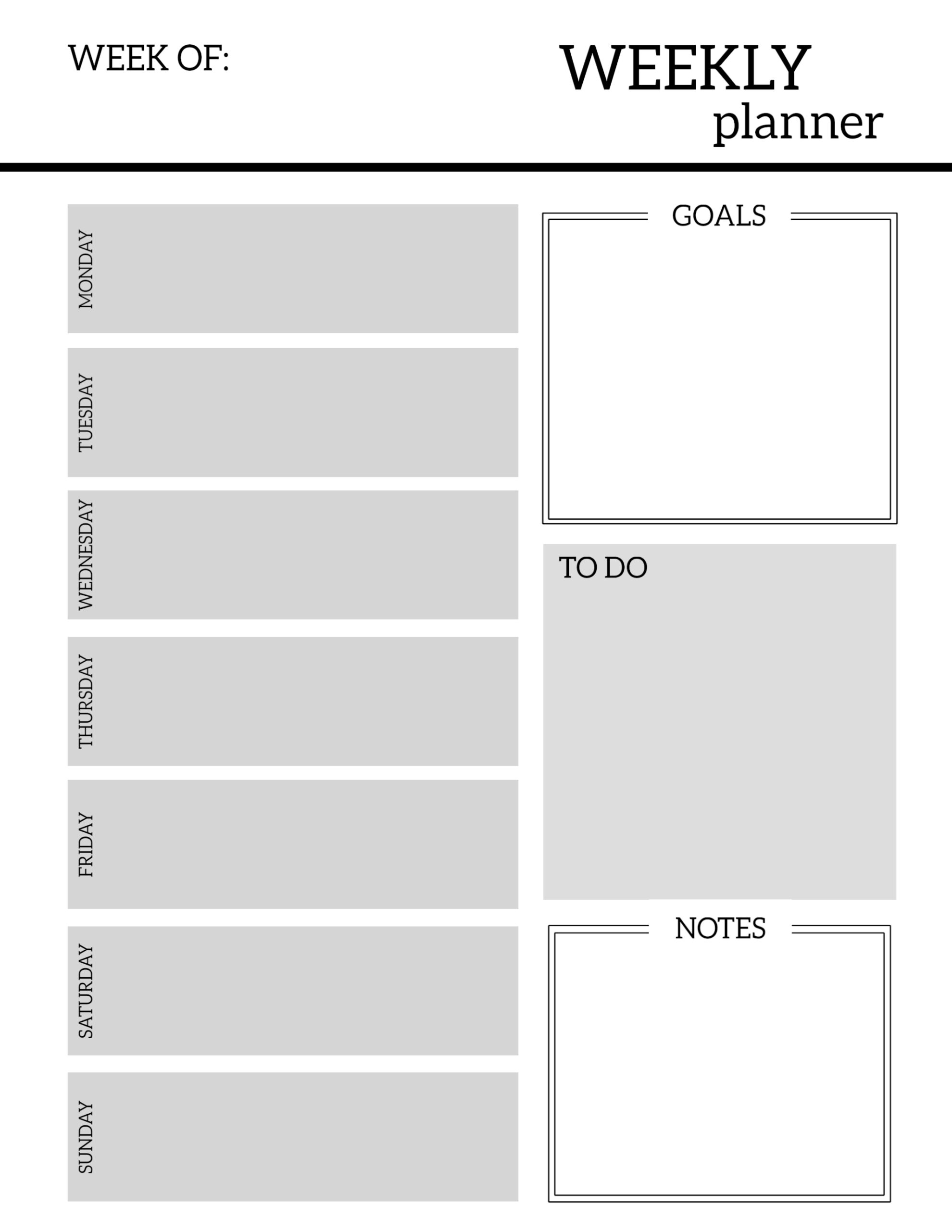 image regarding Weekly Planner Page called Cost-free Printable Weekly Planner Internet pages - Paper Path Structure