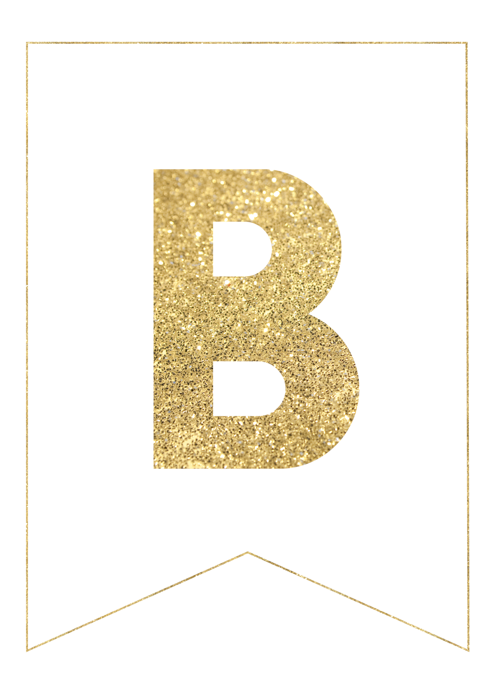 B  Th Cut Out In Gold Letters Template on