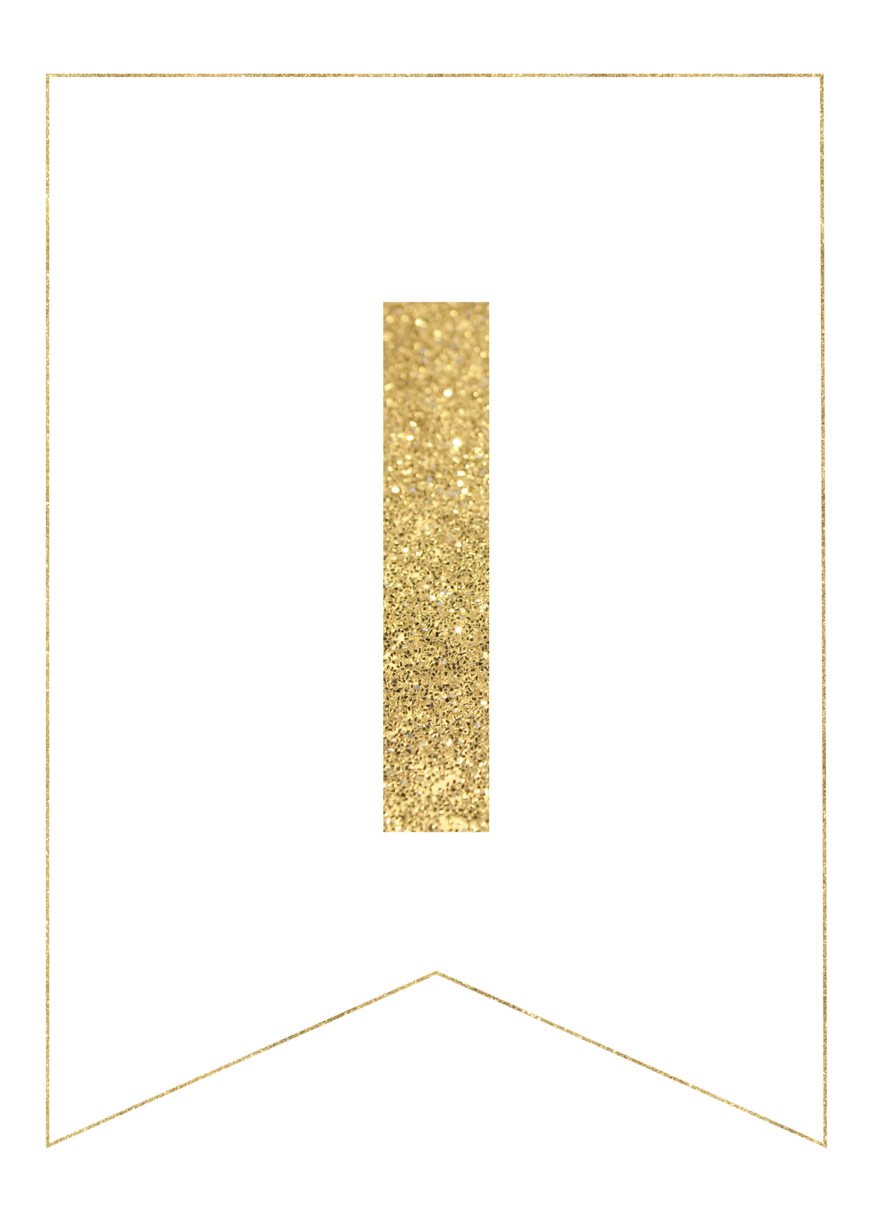 I  Th Cut Out In Gold Letters Template on