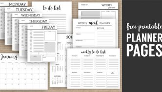 Monthly Planner Template {Printable Planner Pages}. Free printable day planner pages DIY. To do, weekly meal plan, calendar to get organized #papertraildesign #DIYplanner #plannerprintables #organizationideas