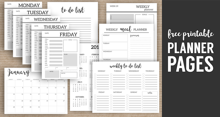 It is a picture of Gargantuan Planner Pages Printable