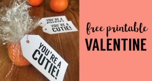 Free Valentine Cards Printable Cutie Tag. DIY Valentine card. Make your own valentines for kids, teenagers or adult valentine cards. #papertraildesign #valentinesgift #valentinesdaycraft #valentine
