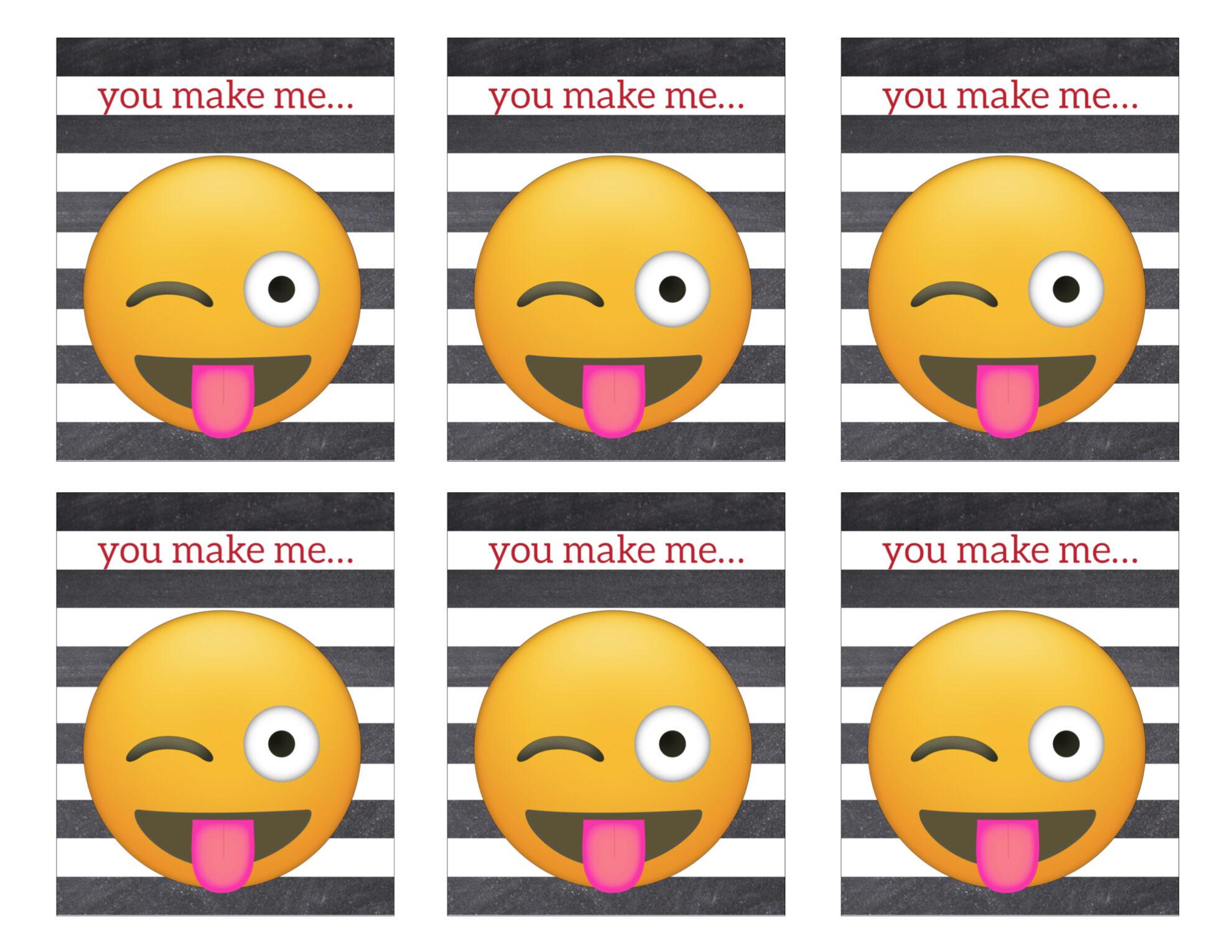 Printable Emoji Valentine Cards Paper Trail Design