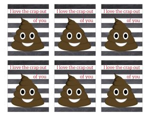 Free Printable Emoji Valentine Cards. Easy DIY emoji Valentine's Day cards. Kissy face emoji, poop emoji heart face and more. #papertraildesign #valentinesday #valentinesdayideas #emoji