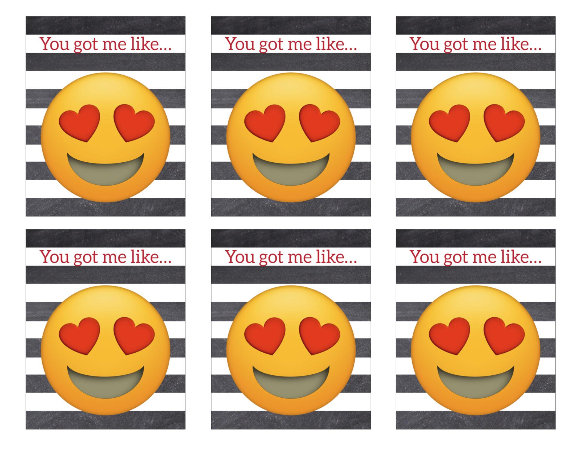 Printable Emoji Valentine Cards - Paper Trail Design