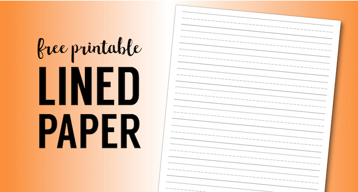 Free Printable Lined Paper Handwriting Template