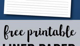 Free Printable Lined Paper {Handwriting Paper Template}. Kindergarten writing paper. Blank lined writing paper for handwriting practice. #papertraildesign #handwritingpractice #educational #homeschool