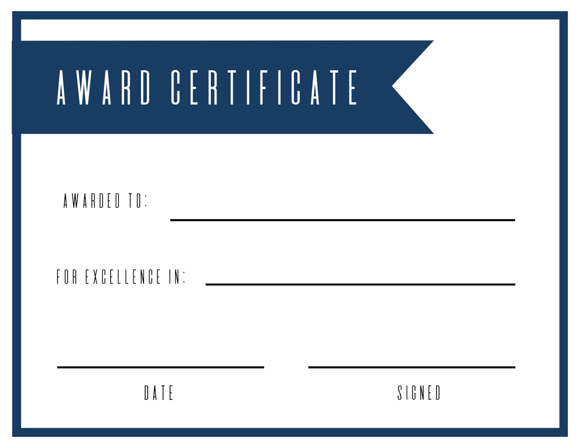Free printable award certificate template paper trail design for Prize certificates templates free