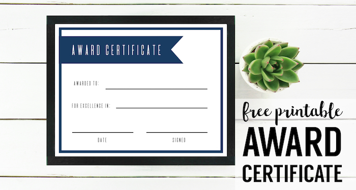 free printable award certificate template paper trail design. Black Bedroom Furniture Sets. Home Design Ideas
