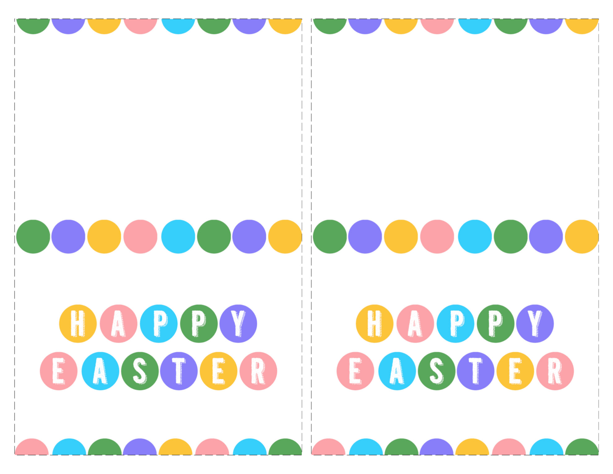 graphic regarding Easter Cards Printable identified as Delighted Easter Playing cards Printable - No cost - Paper Path Style and design