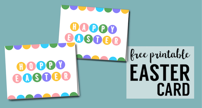 Happy Easter Cards Printable Free Paper Trail Design