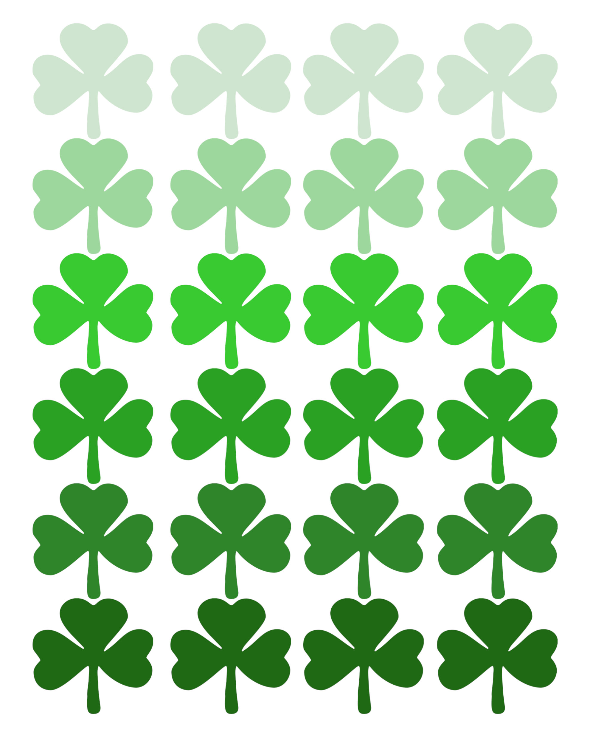 Shamrock Pattern Printable St. Patrick's Day Decor - Paper ...