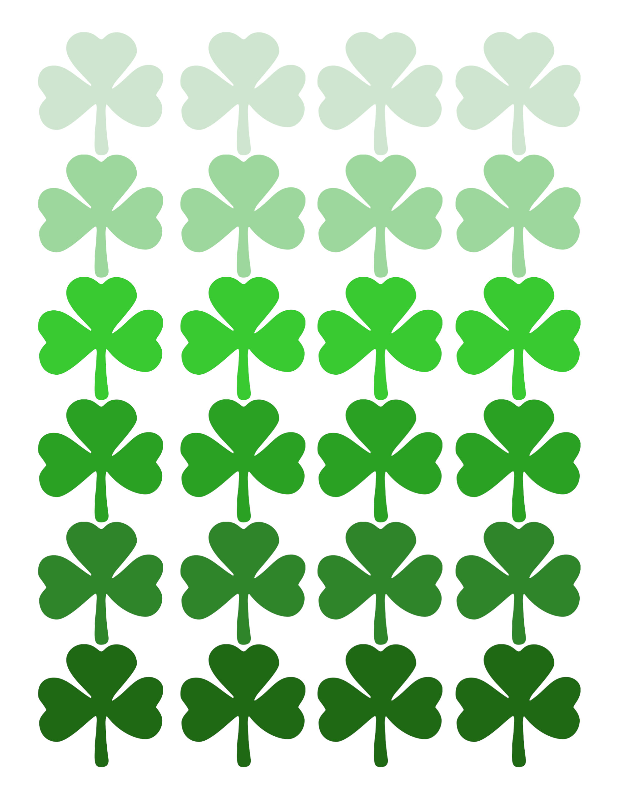 shamrock pattern printable st patrick s day decor paper trail design