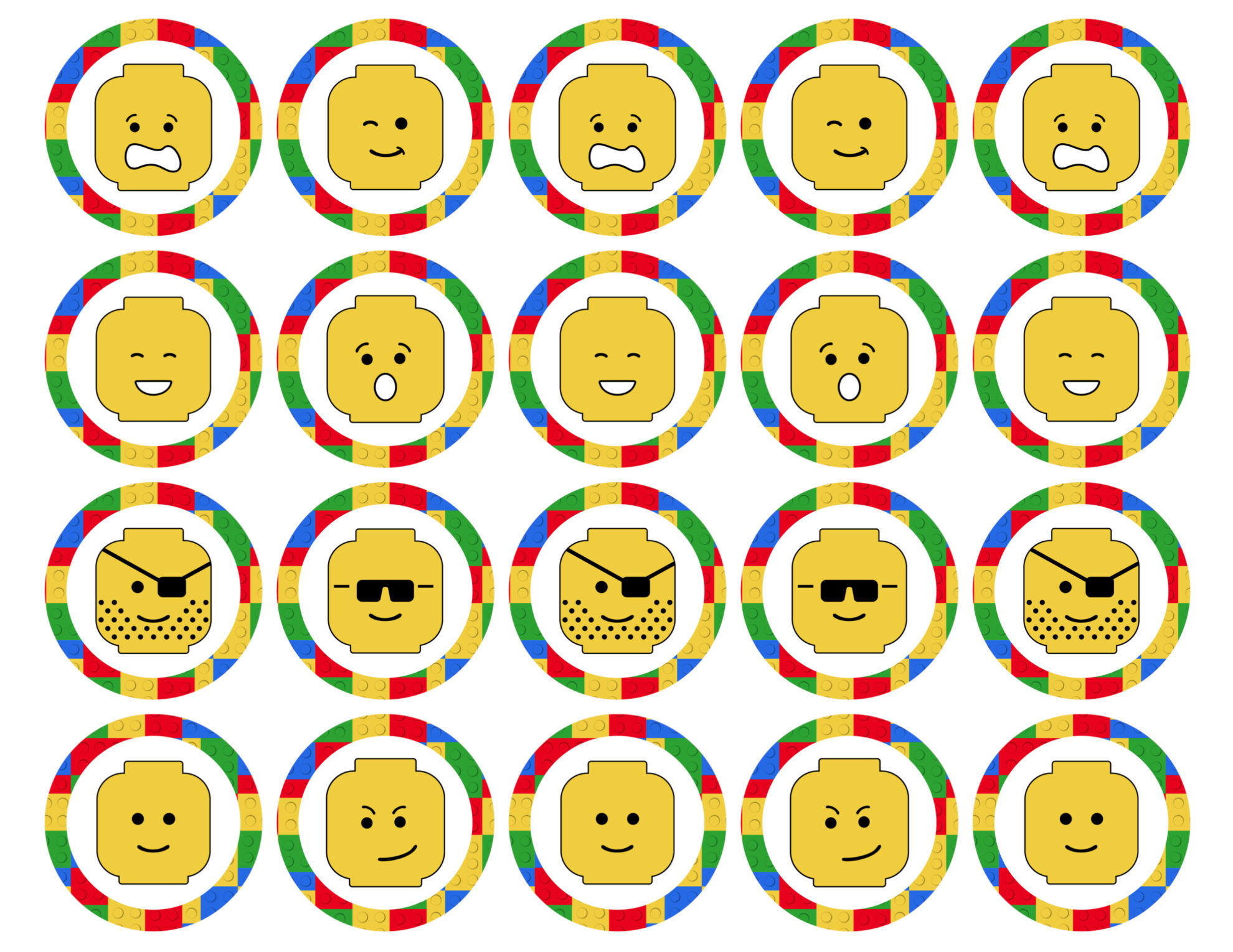 picture about Lego Letters Printable named Lego Cupcake Toppers Printable - Paper Path Structure