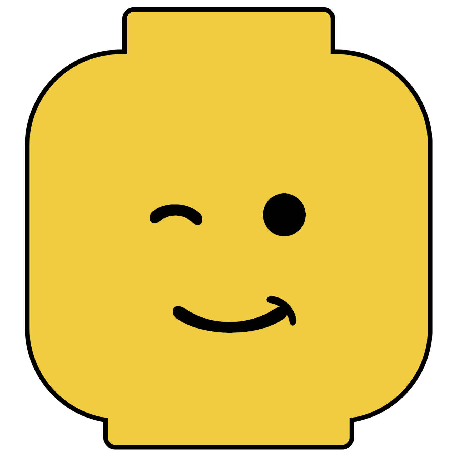 Pin the head on the lego man party game free printable for Lego minifigure head template