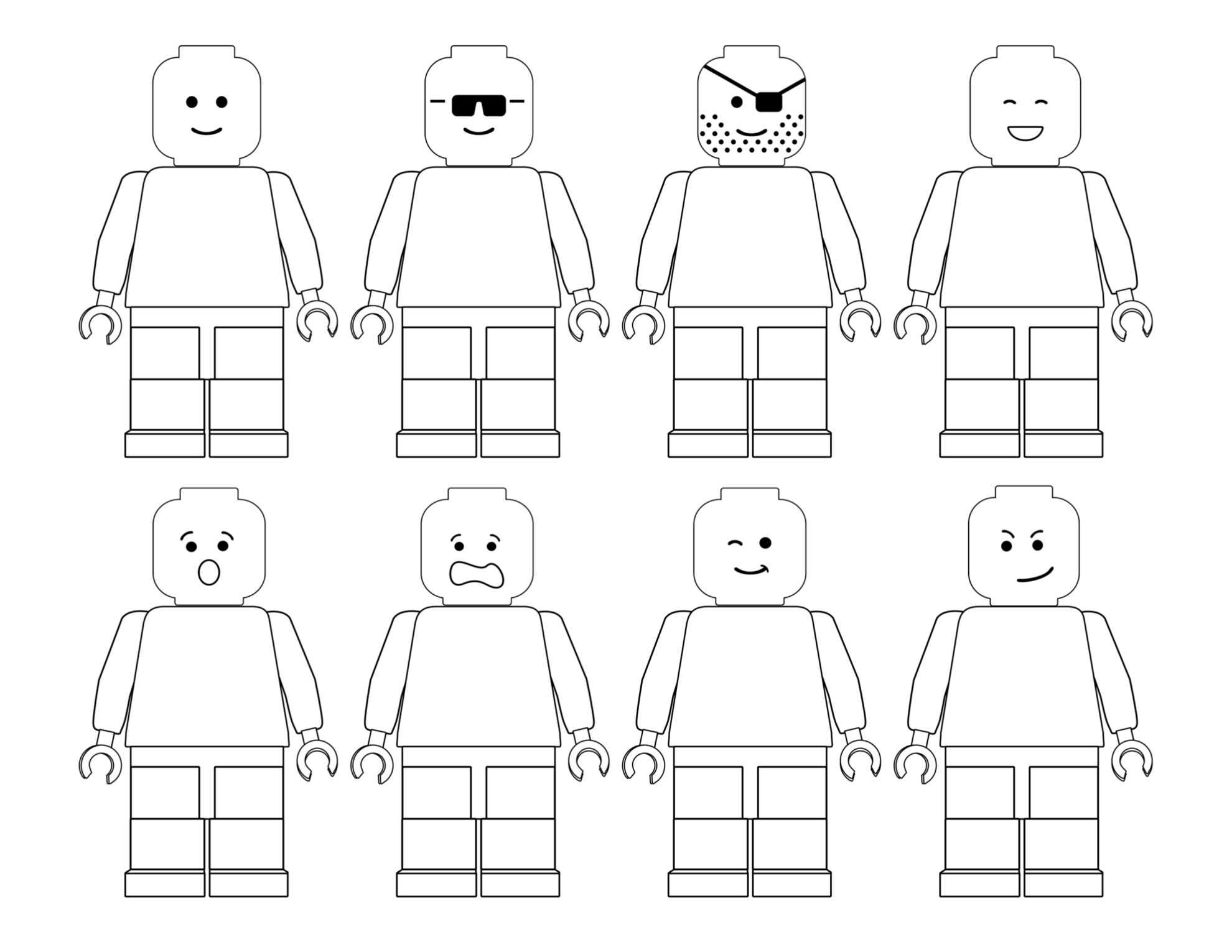 Free printable lego coloring pages paper trail design for Lego coloring pages to print free
