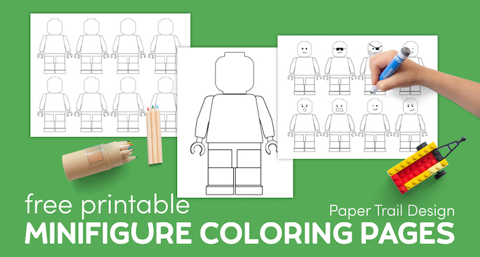 Free Printable Lego Coloring Pages Paper Trail Design