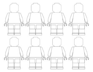 blank lego minifigures coloring page