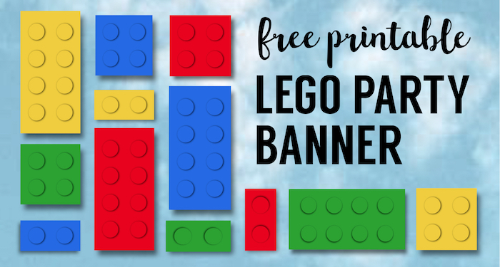 Lego Banner Lego Party Printables Paper Trail Design