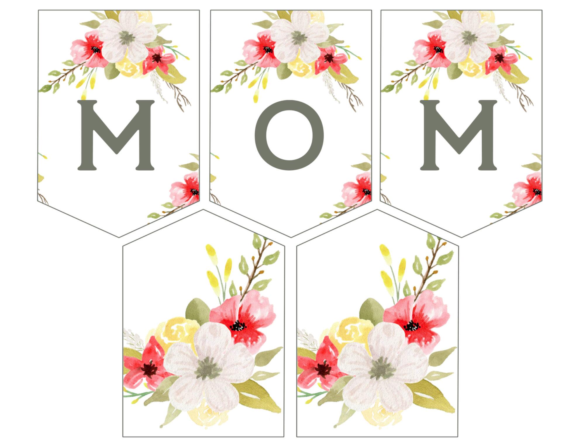 mother 39 s day banner printable paper trail design. Black Bedroom Furniture Sets. Home Design Ideas
