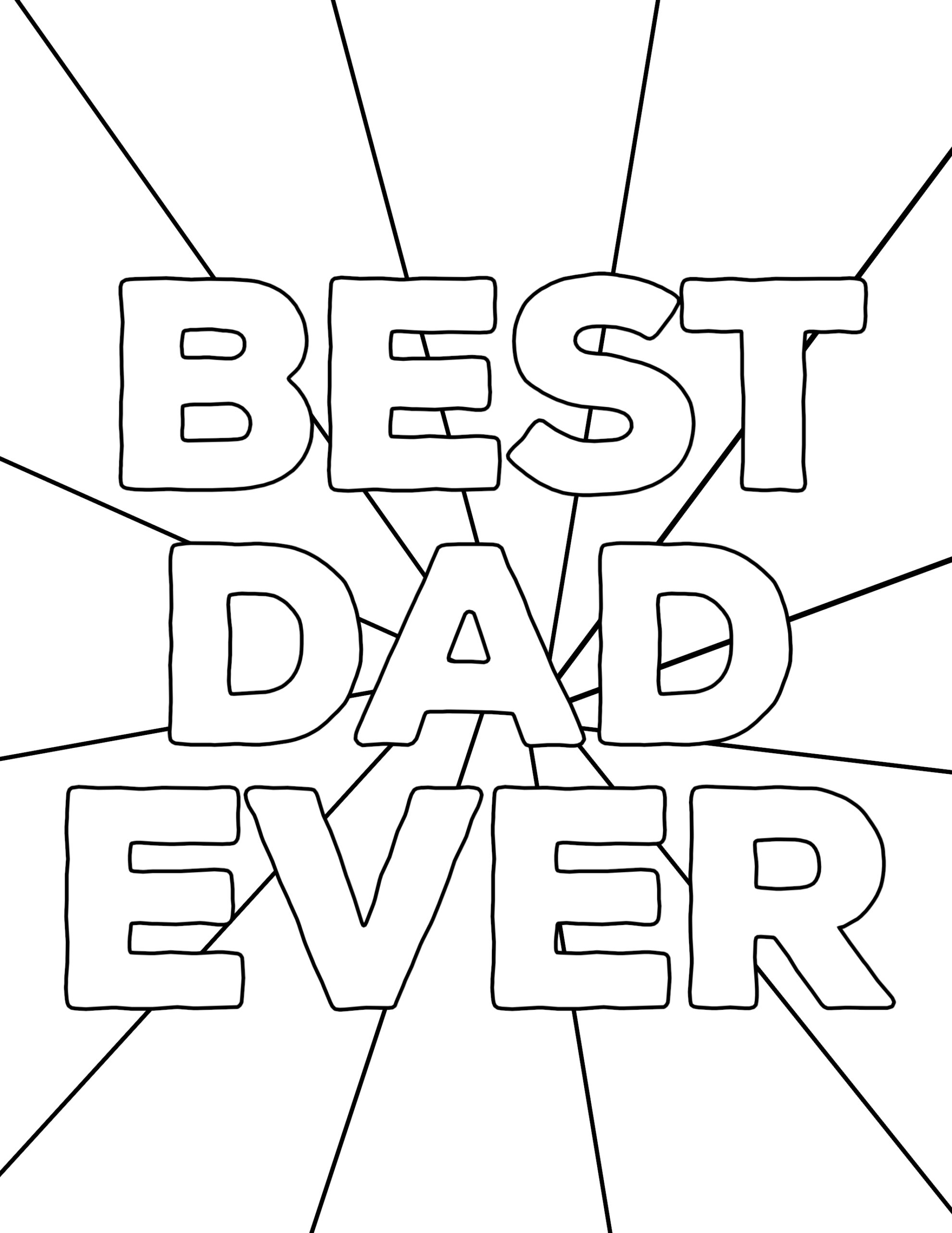 Cool Father Day Coloring Pages | Fathers Day | Free | Holiday Coloring | 2562x1980