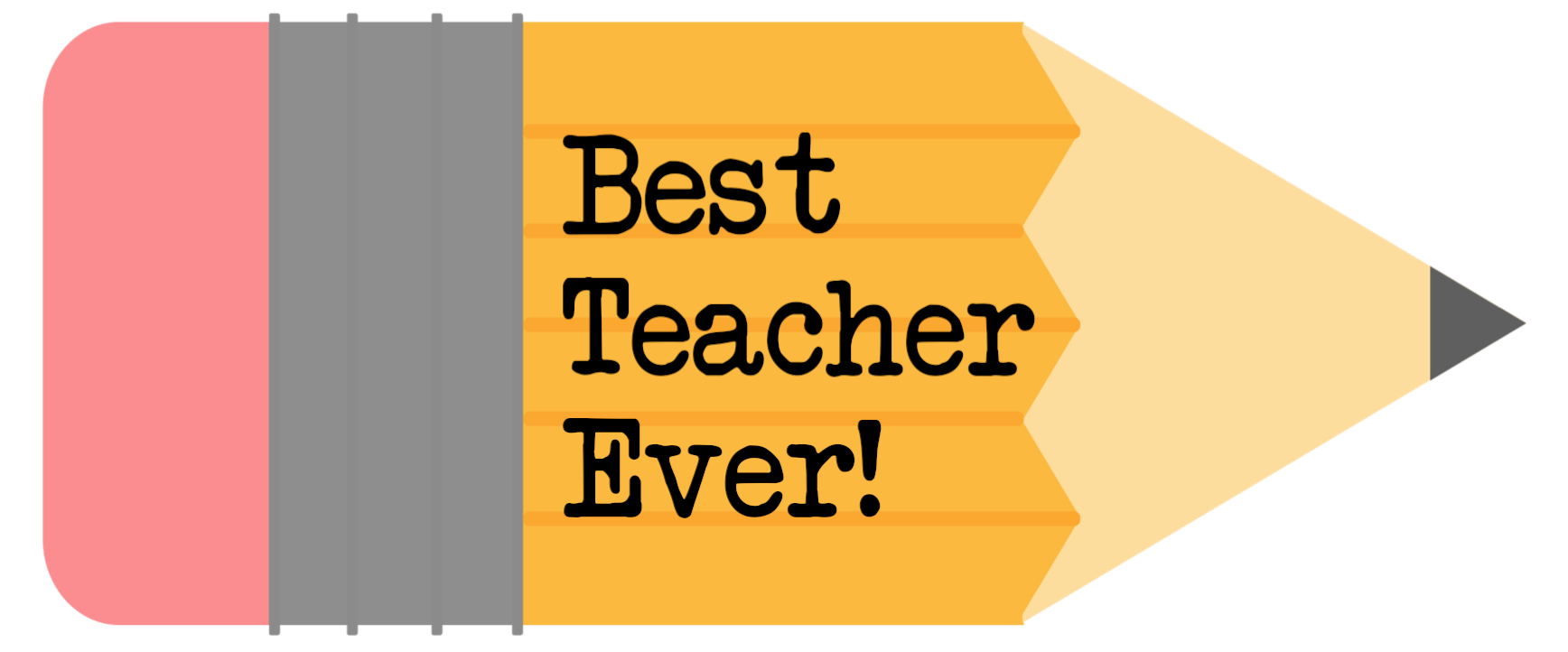 best teacher ever free printable pencil gift tag
