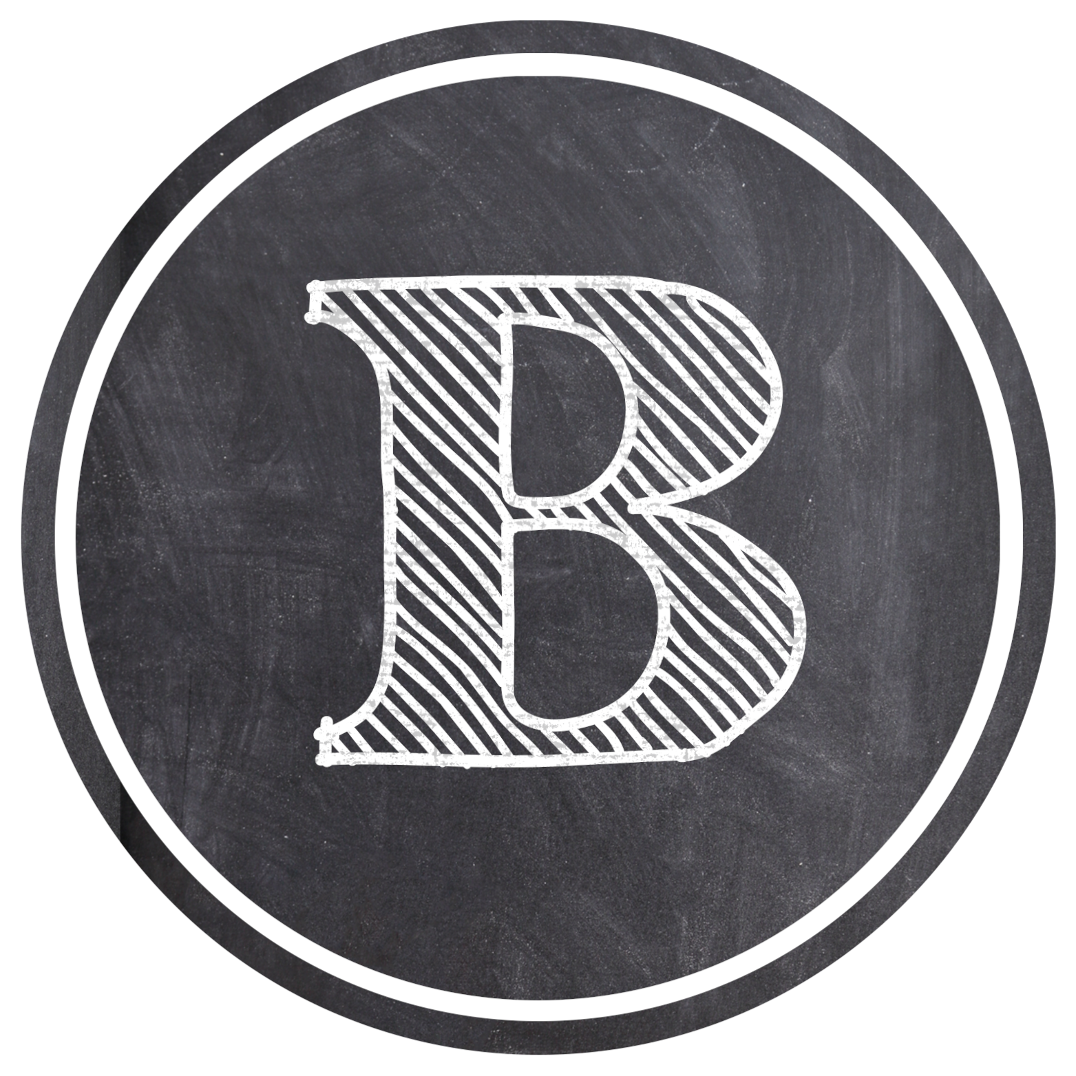 Chalkboard Banner Letters Free Printable Alphabet - Paper ...